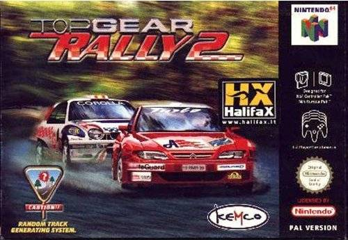 Top Gear Rally 2 portada de Nintendo 64