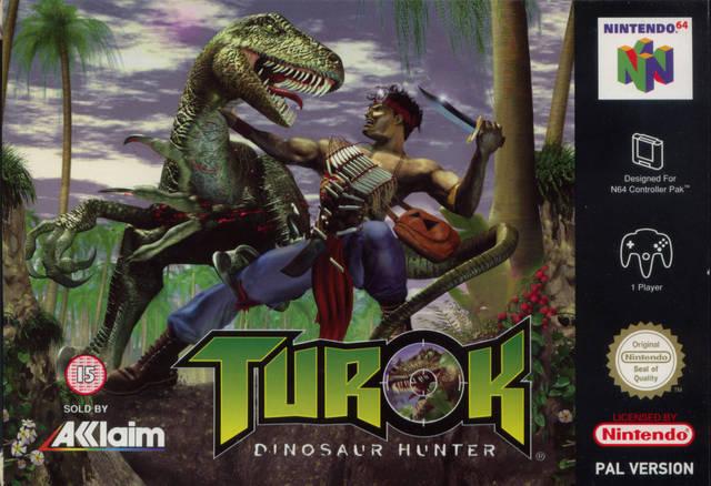 Turok - Dinosaur Hunter portada de Nintendo 64