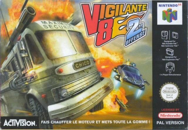 Vigilante 8 - 2nd Offense portada de Nintendo 64