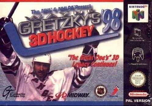 Wayne Gretzky 3D Hockey 98 portada de Nintendo 64