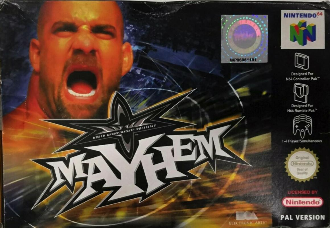 WCW Mayhem portada de Nintendo 64
