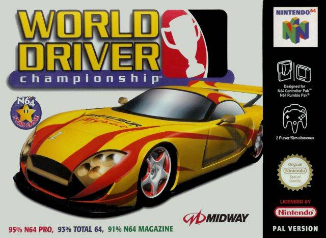 World Driver Championship portada de Nintendo 64