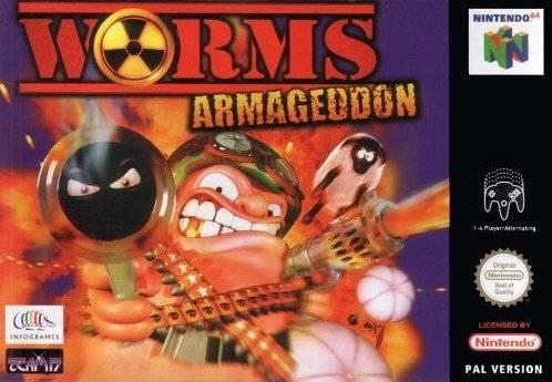 Worms Armageddon portada de Nintendo 64