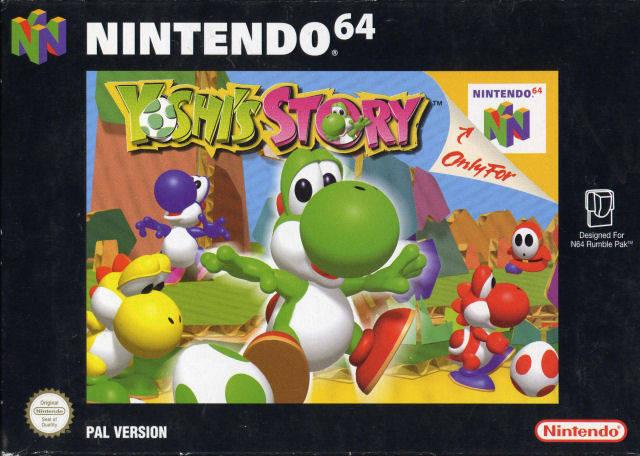 Yoshi Story portada de Nintendo 64