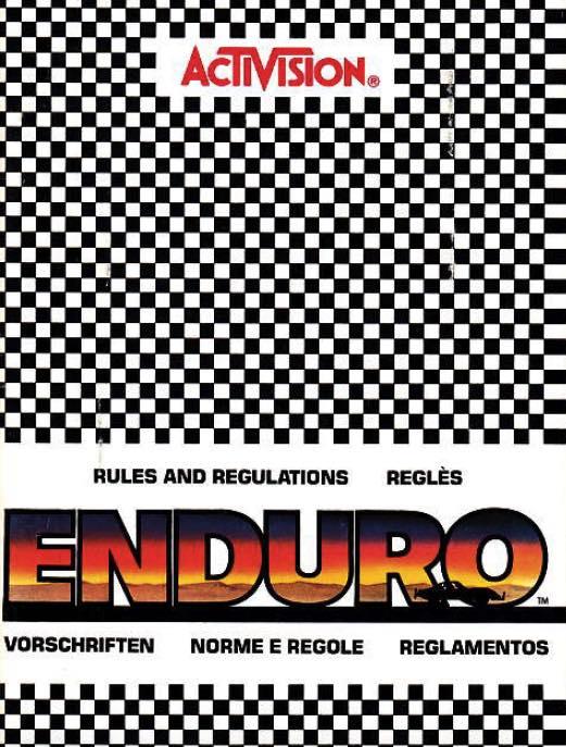 Manual en castellano del juego Enduro para Atari 2600