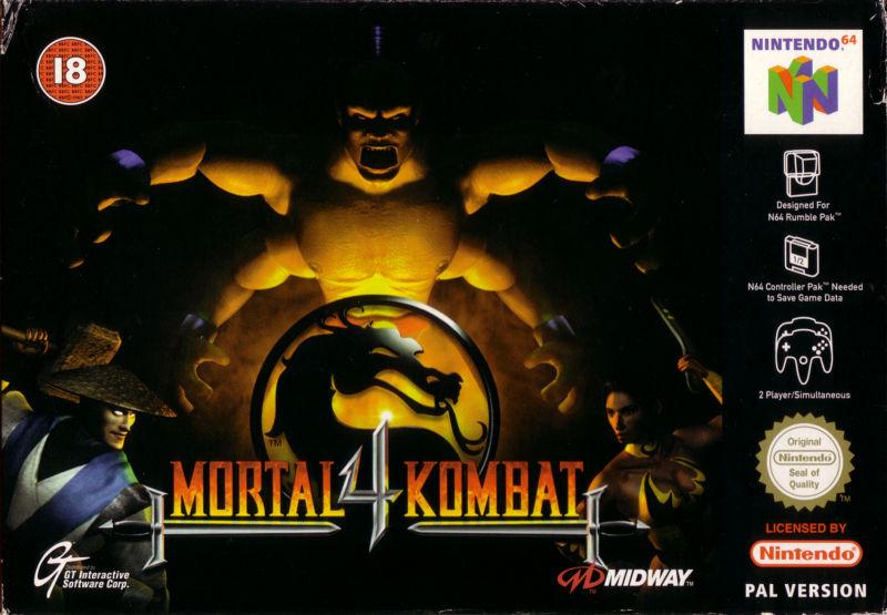 mortal-kombat-4 portada de Nintendo 64