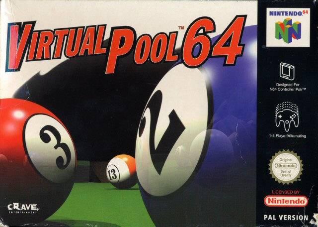 Virtual Pool 64 portada de Nintendo 64