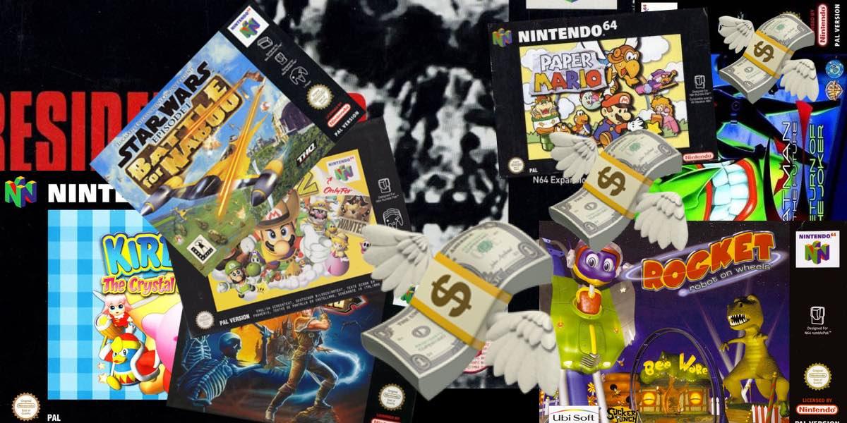 Los diez juegos más caros de Nintendo 64, o no