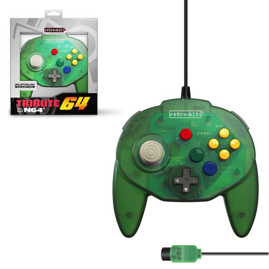 Mando Hori Nintendo 64 Tribute Forest Green