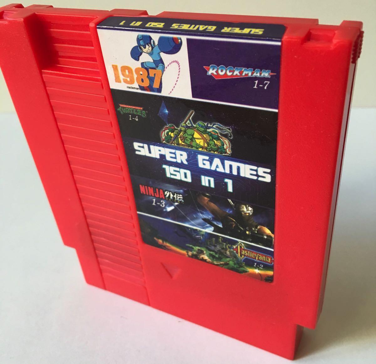 Cartucho 150 juegos en 1 para Nintendo NES