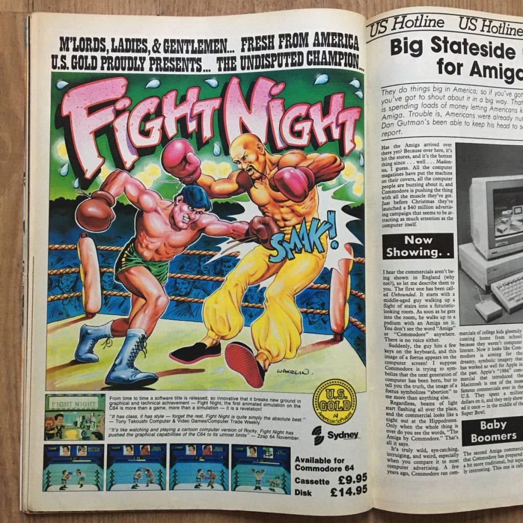 Anuncio de Figh Night para C64