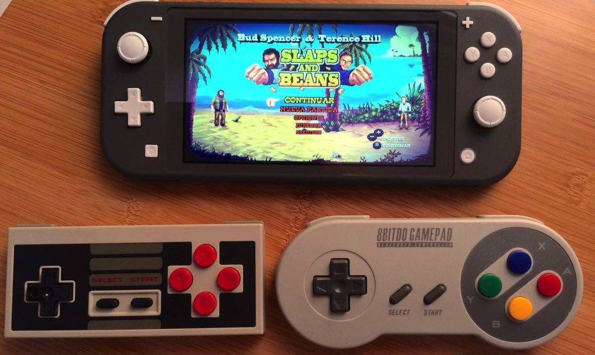 Mandos 8bitdo con Nintendo Switch Lite