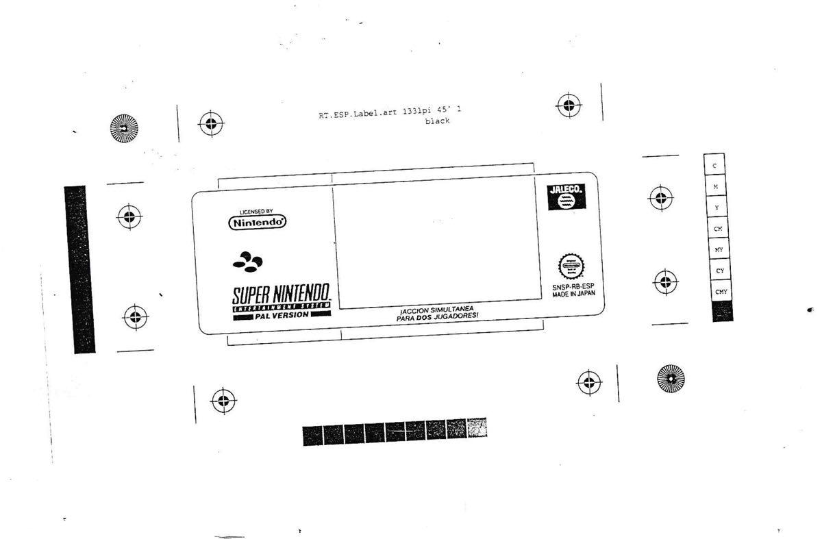 Etiqueta cartucho SNES Rival Turf