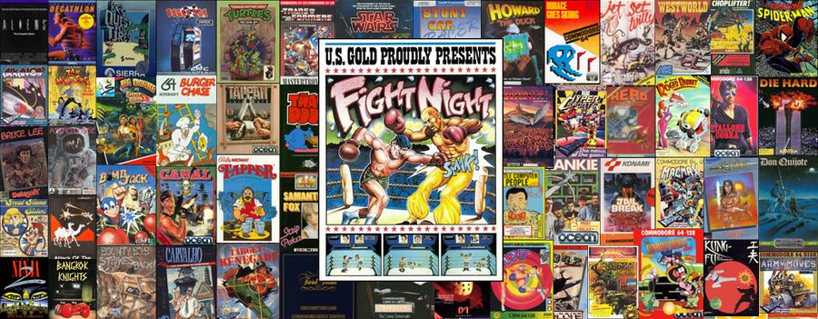 Portada del juego Fight Night para Commodore 64