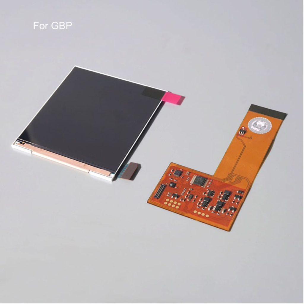 FUNNYPLAYING para GBP IPS LCD RETRO, juego de PIXEL, brillo de luz de fondo alta, combinaciones retro de 36 colores para GAMEBOY de bolsillo