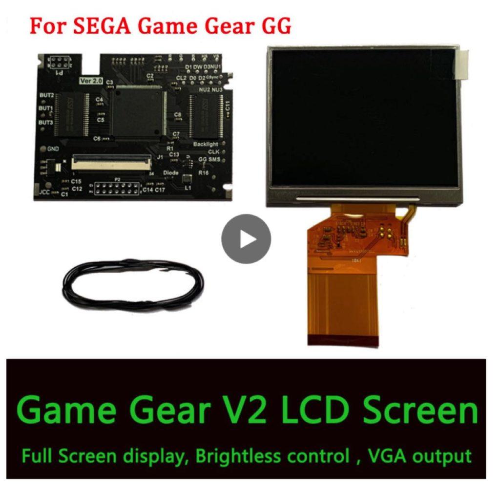 Kits de pantalla LCD V2 para consola de juegos SEGA, Pantalla Completa V2, pantalla LCD de alto brillo, pantalla de retroiluminación para juegos SEGA