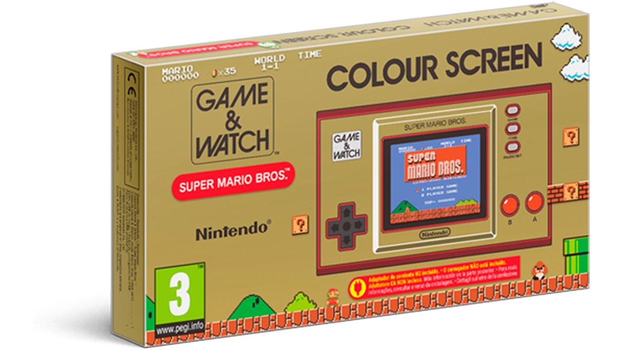 Caja exterior Game Watch Super Mario Bros 35 aniversario