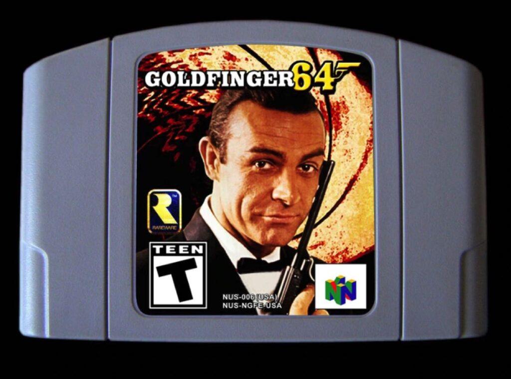 Cartucho del juego Goldfinger64