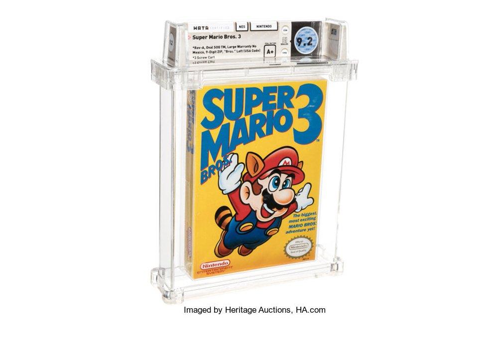 Super Mario Bros 3 que vale 156.000 dolares