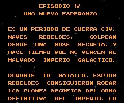 Star Wars Namco Nes en Castellano