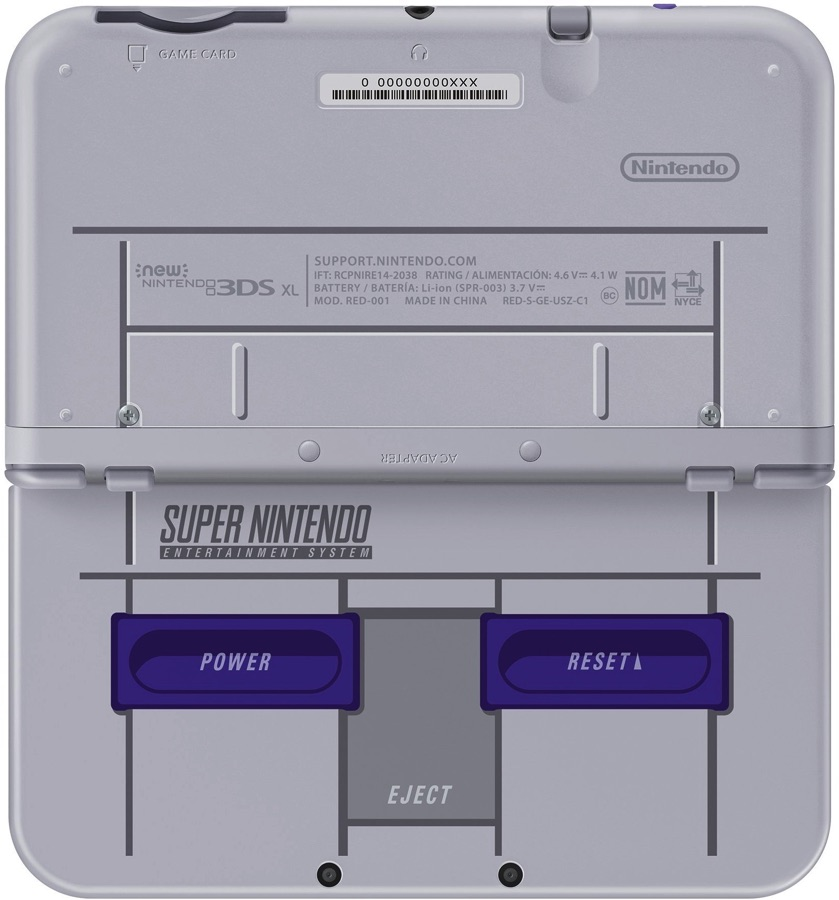 Versión Americana de la New 3DS XL SNES Edition