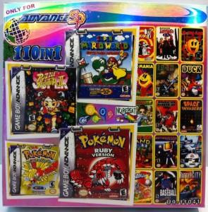 Cartucho Chino con cien juegos de Nintendo Nes para Game Boy Advance