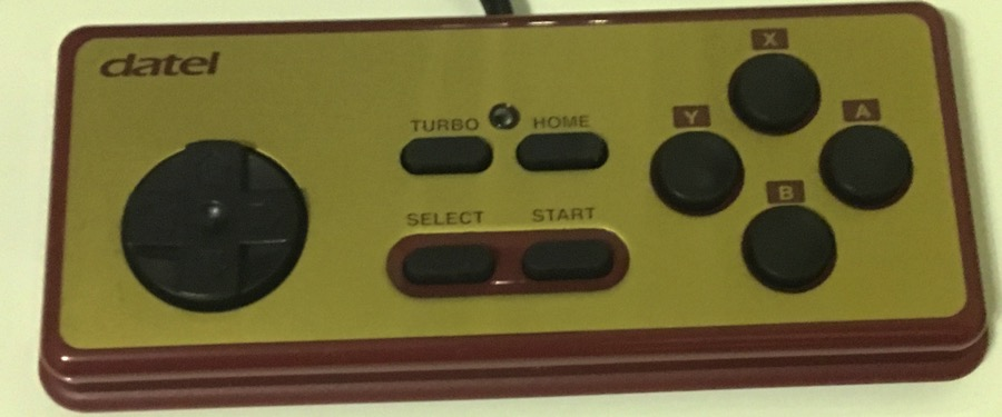 Mando Datel para Wii con forma de mando de Famicom