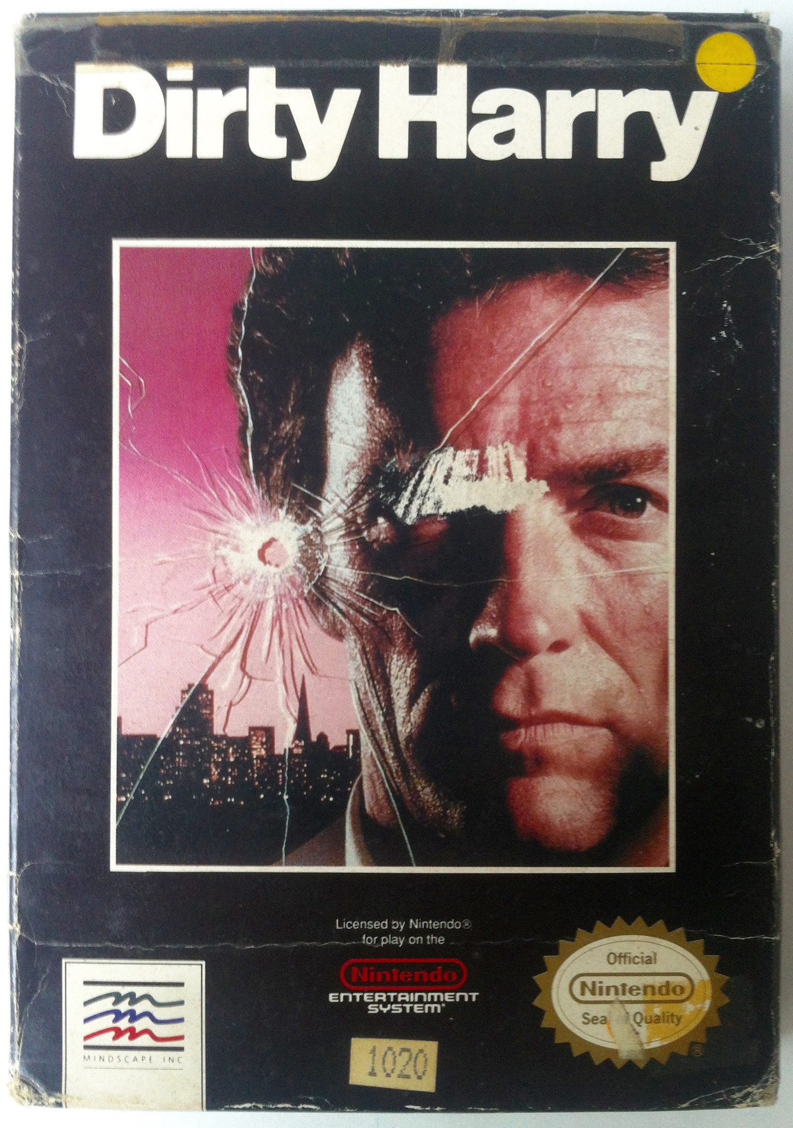 Caja de Dirty Harry para NES