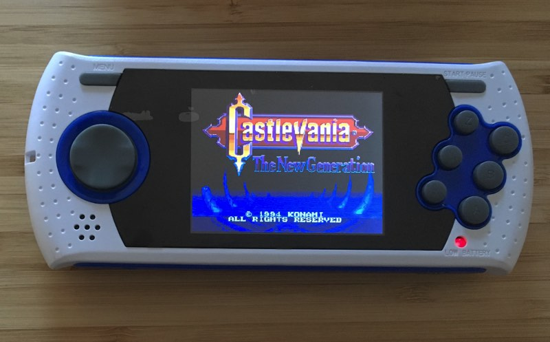 Castlevania mejorado en la Sega Mega Drive Ultimate Portable