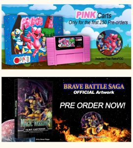 Piko Interactive lanza nuevos cartuchos para Mega Drive y Super Nintendo