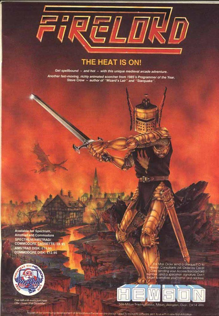 Publicidad Firelord C64