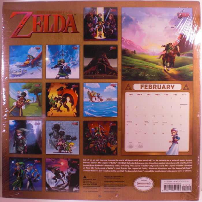Calendario oficial The Legend of Zelda 2013 a la venta