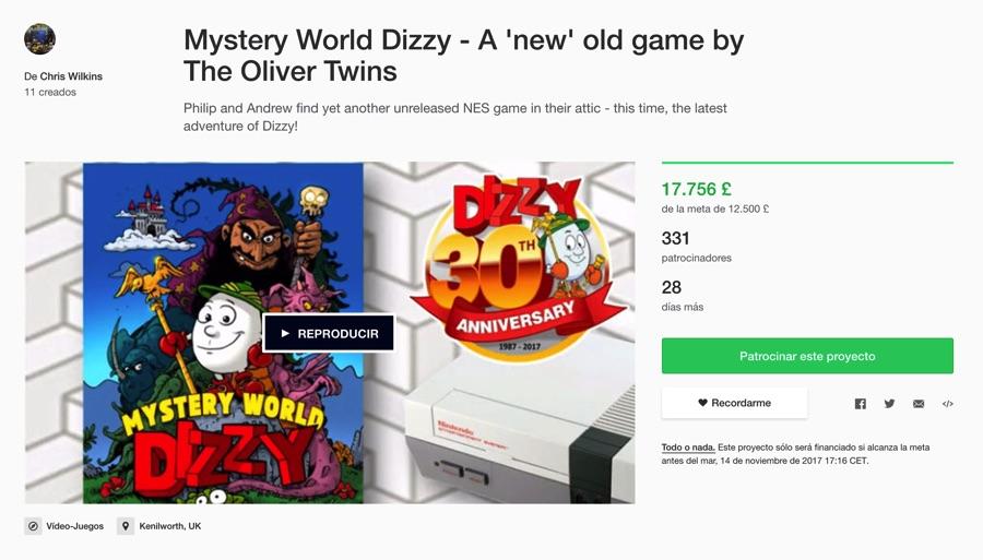 Campaña Dizzy para Nintendo NES en Kickstarter
