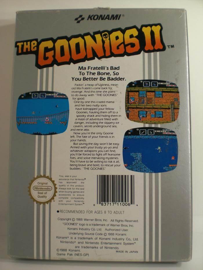 The Goonies II para la NES