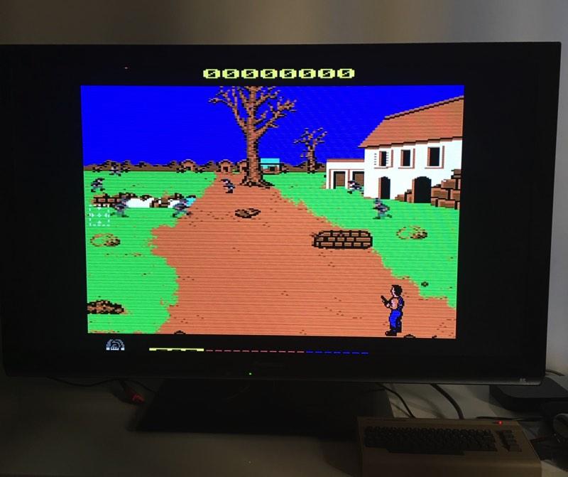 Probando Cabal en mi C64 Mini