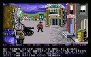 La ley del Oeste para C64 pantalla del juego
