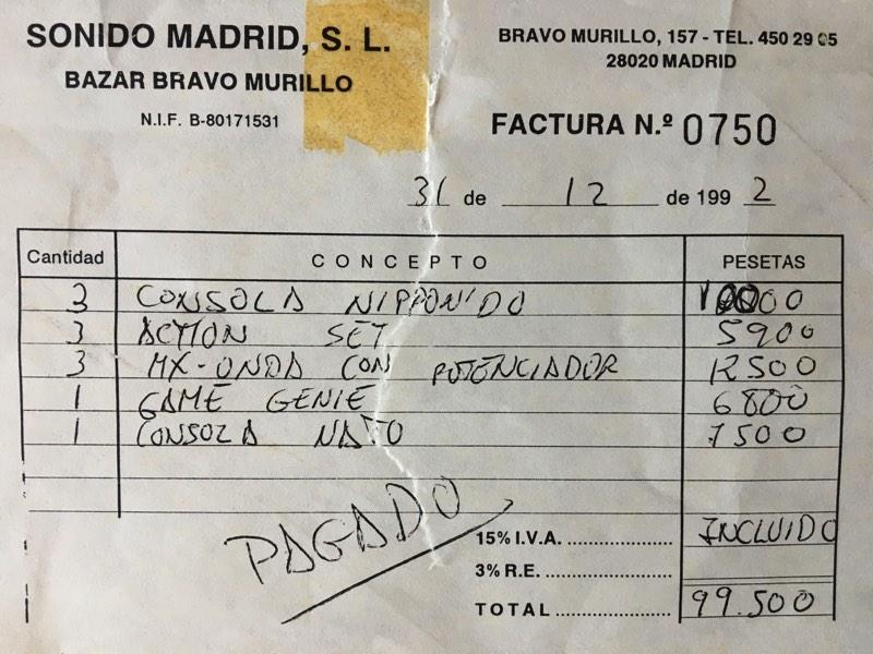 Precios de consolas clónicas en el 92