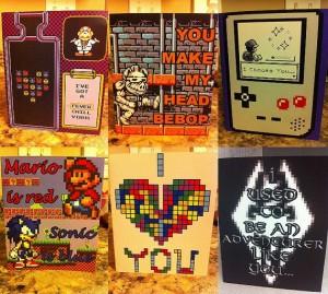 Tarjetas de San Valentín inspiradas en videojuegos