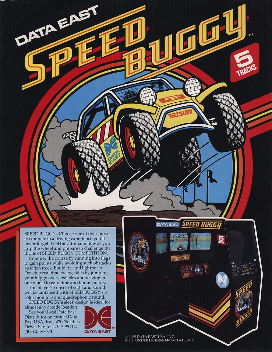 Flyer juego arcade Speed Buggy