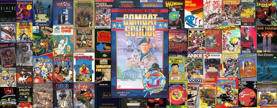 Portada Combat School de Ocean para Commodore 64 budget