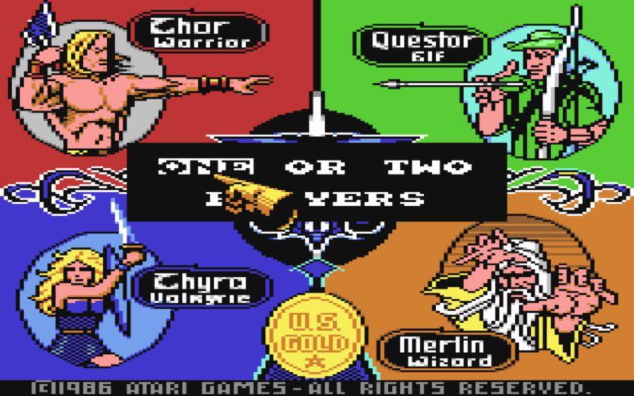 Pantalla juego Gauntlet C64