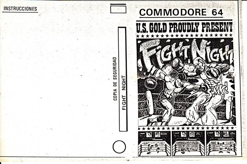 Portada pirata Fight Night c64
