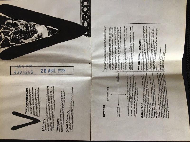 Carátula pirata V para Commodore 64