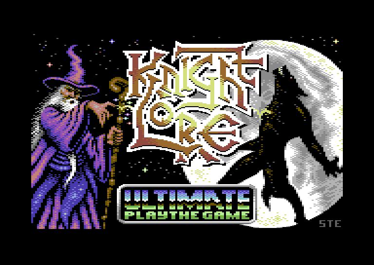 Pantalla de carga del Knight Lore para C64