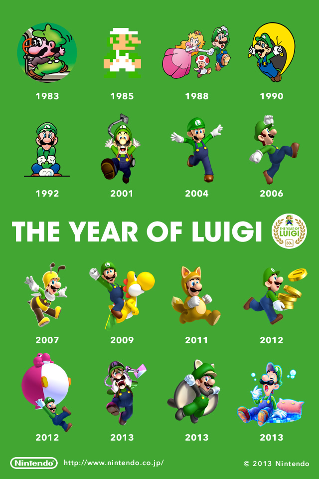 Fondo de pantalla 30 aniversario Luigi