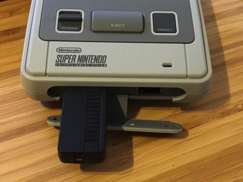 Receptor mando inalambrico en SNES Mini