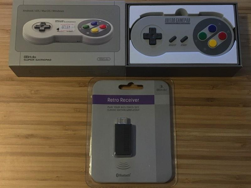 Todo el kit 8bitdo para SNES Mini