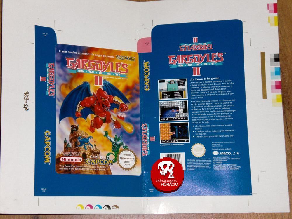 Caja Española Gargoyle Quest 2 Nintendo NES