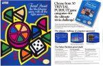 Material promocional Trivial Pursuit para Nintendo NES