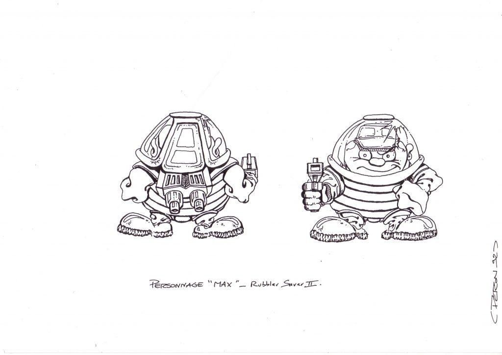 Boceto de diseño Max para Nintendo GB